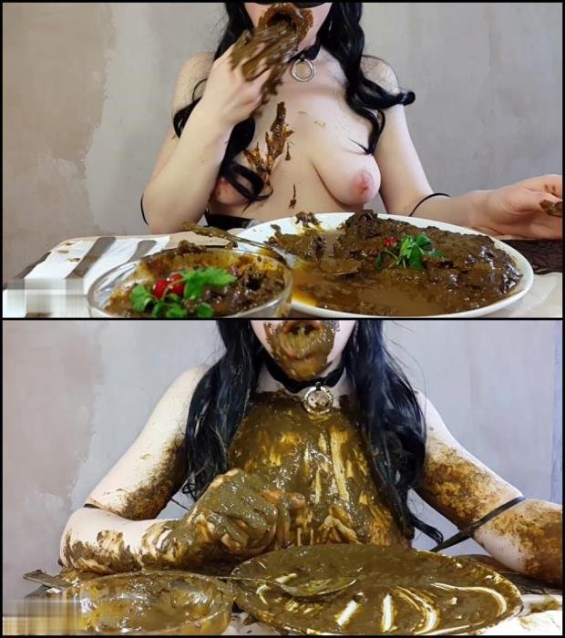 Body covered feces (FullHD 1080p) Anna Coprofield made dinner out of shit and ate fresh shit. [MPEG-4 / 3.11 GB /  2019]