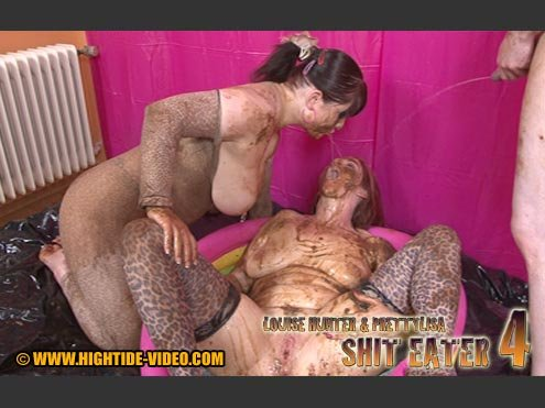LOUISE HUNTER, PRETTY LISA (HD 720p) Shit Eater 4 [mov / 969 MB /  2019]